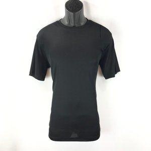 Men's Dressy Black Ribbed T-Shirt By LOG-IN UOMO